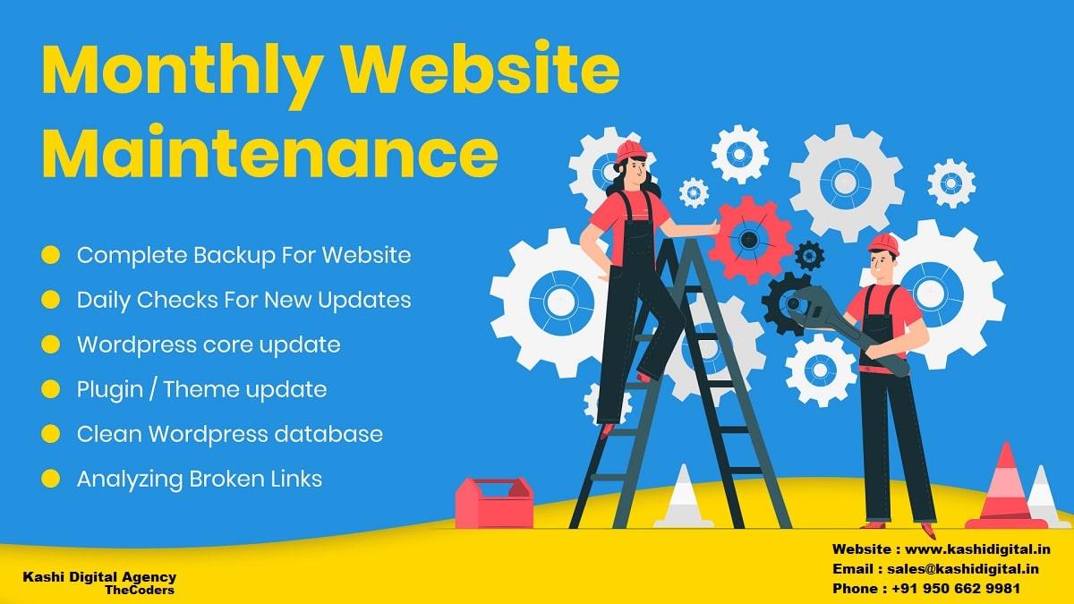 website maintenance company India